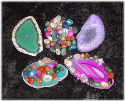 You can creaate great gemstone items at your Dinosaurs Rock Gems Rock Party